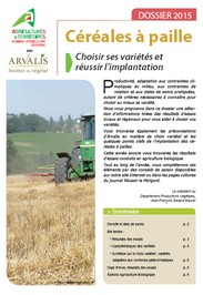 C r ales paille en agriculture conventionnelle et - Chambre d agriculture haute vienne ...