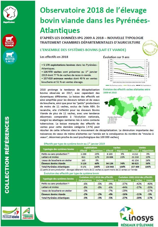 Observatoire 2018 de l levage bovins viande dans les - Chambre d agriculture haute vienne ...