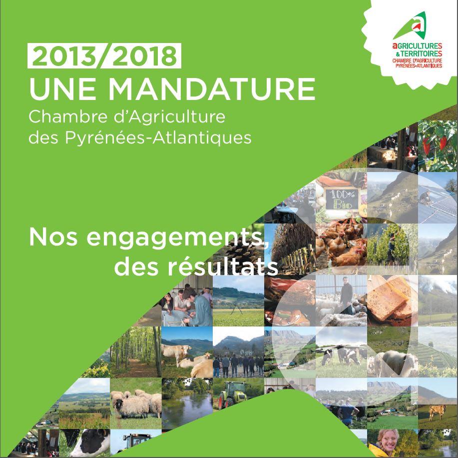 2013 2018 une mandature nos engagements des r sultats - Chambre d agriculture haute vienne ...